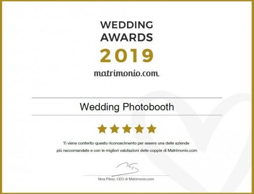 WEDDING AWARDS 2019: ABBIAMO VINTO!